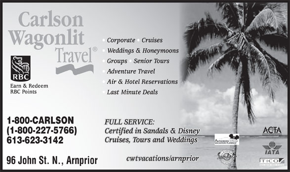 Carlson Wagonlit Travel (1-800-227-5766) - Display Ad -. Enlarge